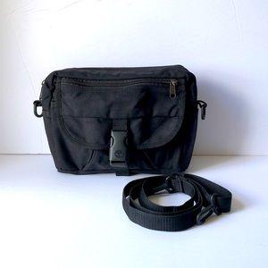 TIMBERLAND belt waist pack black canvas EUC